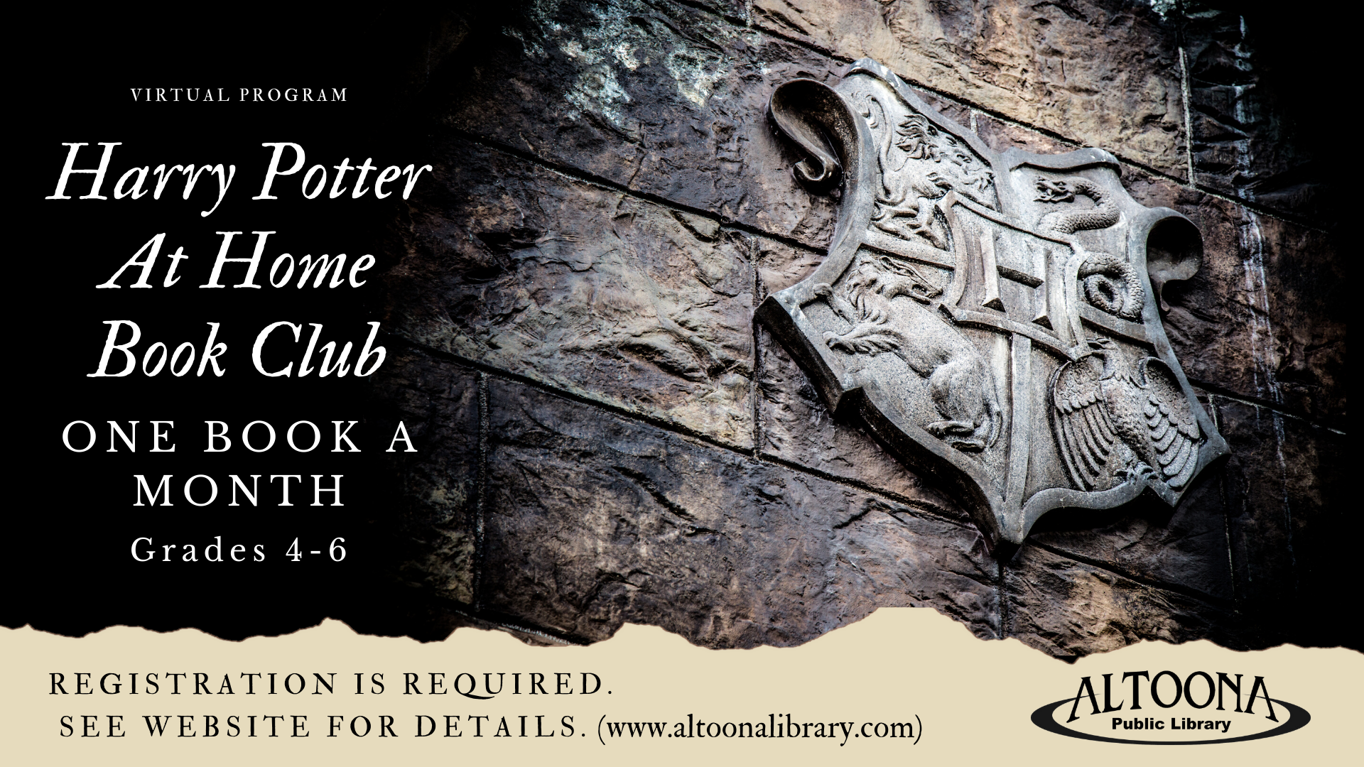 Harry Potter At Home Book Club (Virtual)