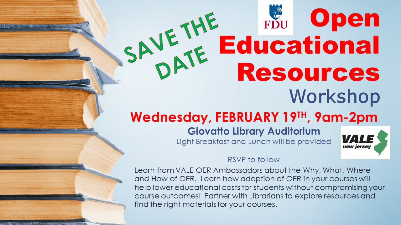 Open Educational Resources Workshop at Giovatto Library
