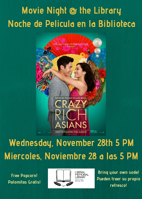 Movie Night @ the Library: Crazy Rich Asians