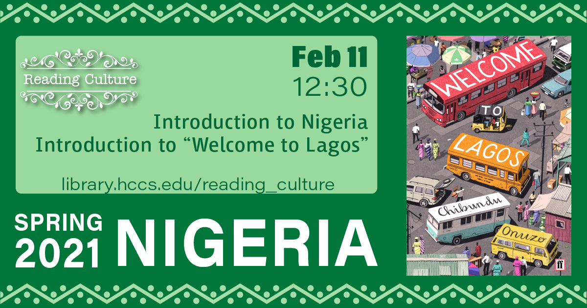Reading Culture: Introduction to Nigeria & Introduction to the Book