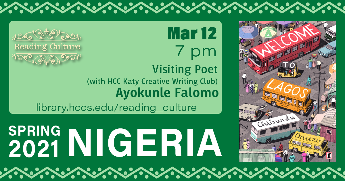 Reading Culture: Visiting Poet Ayokunle Falomo
