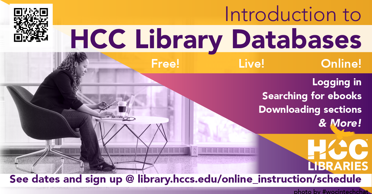 Introduction to HCC Library Databases