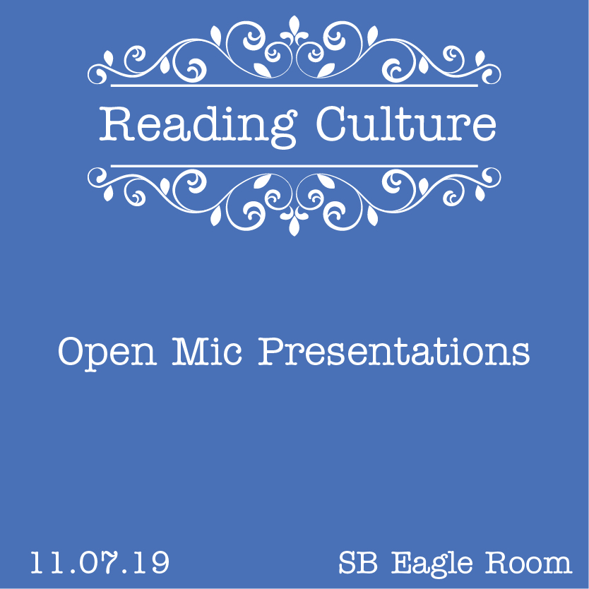 Reading Culture: Open Mic Presentations @ Spring Branch