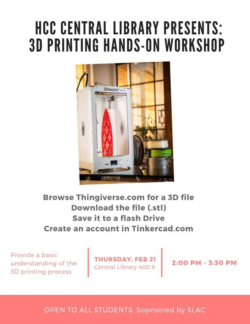 3D PRINTING HANDS-ON WORKSHOP