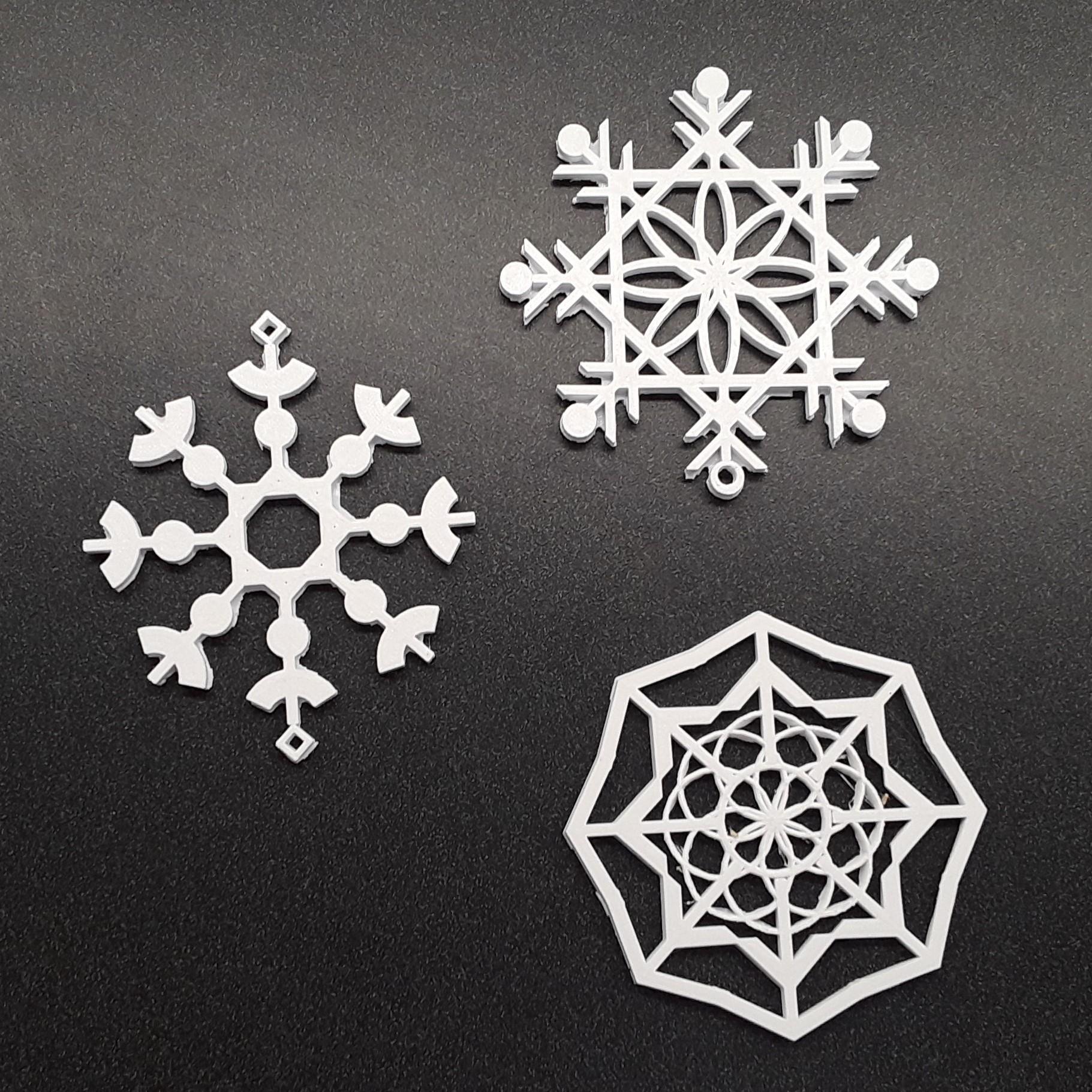 3D Printing - Snowflakes