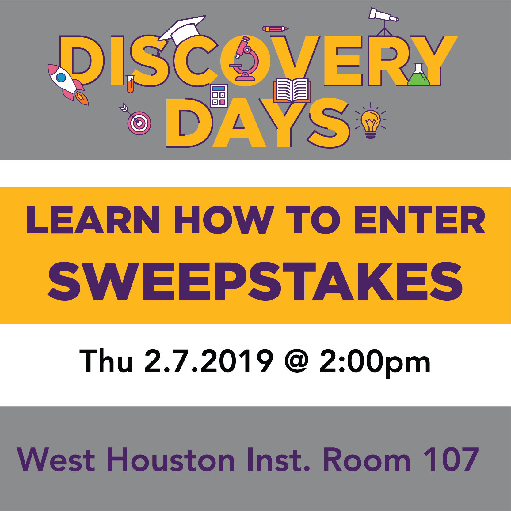Discovery Days - How to Enter Sweepstakes