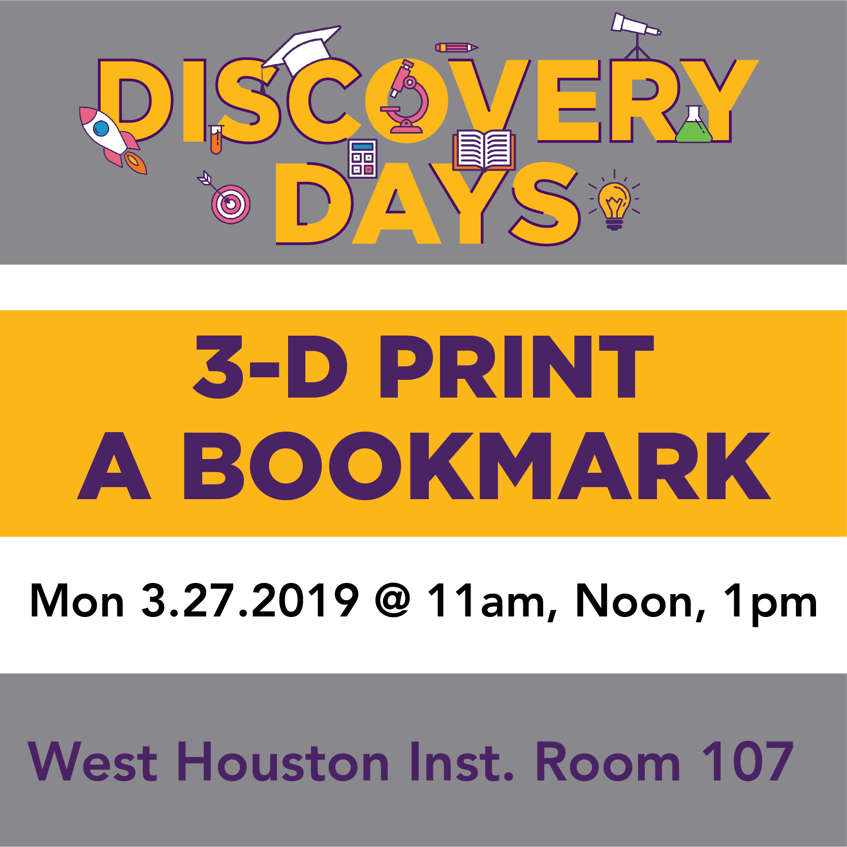 Discovery Days - 3D Print Your Own Bookmark