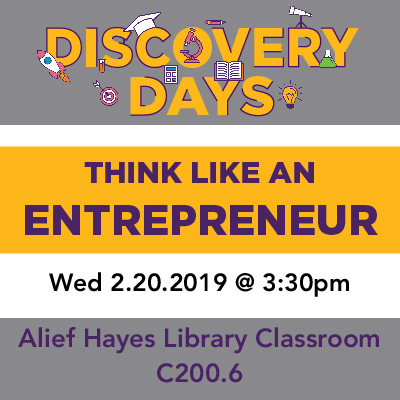 Discovery Days - Think Like an Entrepreneur to Accelerate Your Career