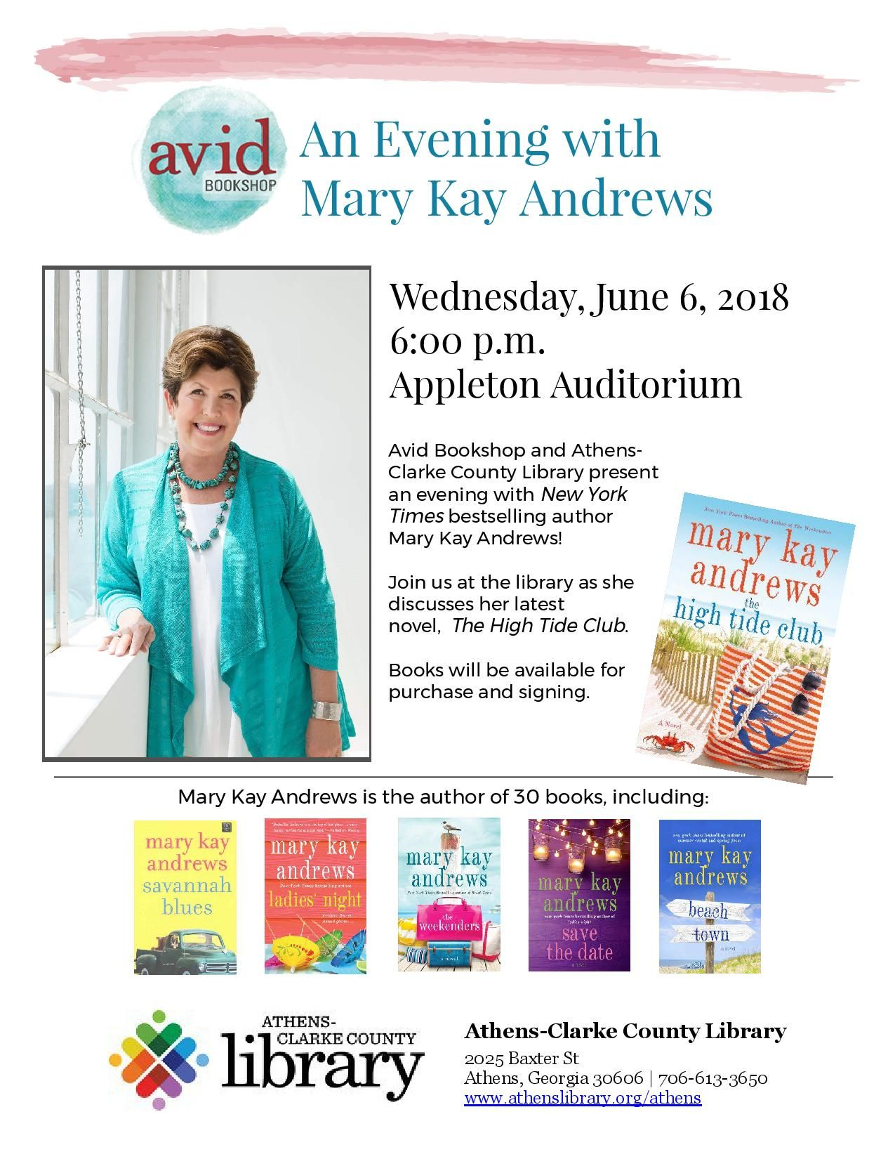 Author Mary Kay Andrews: THE HIGH TIDE CLUB