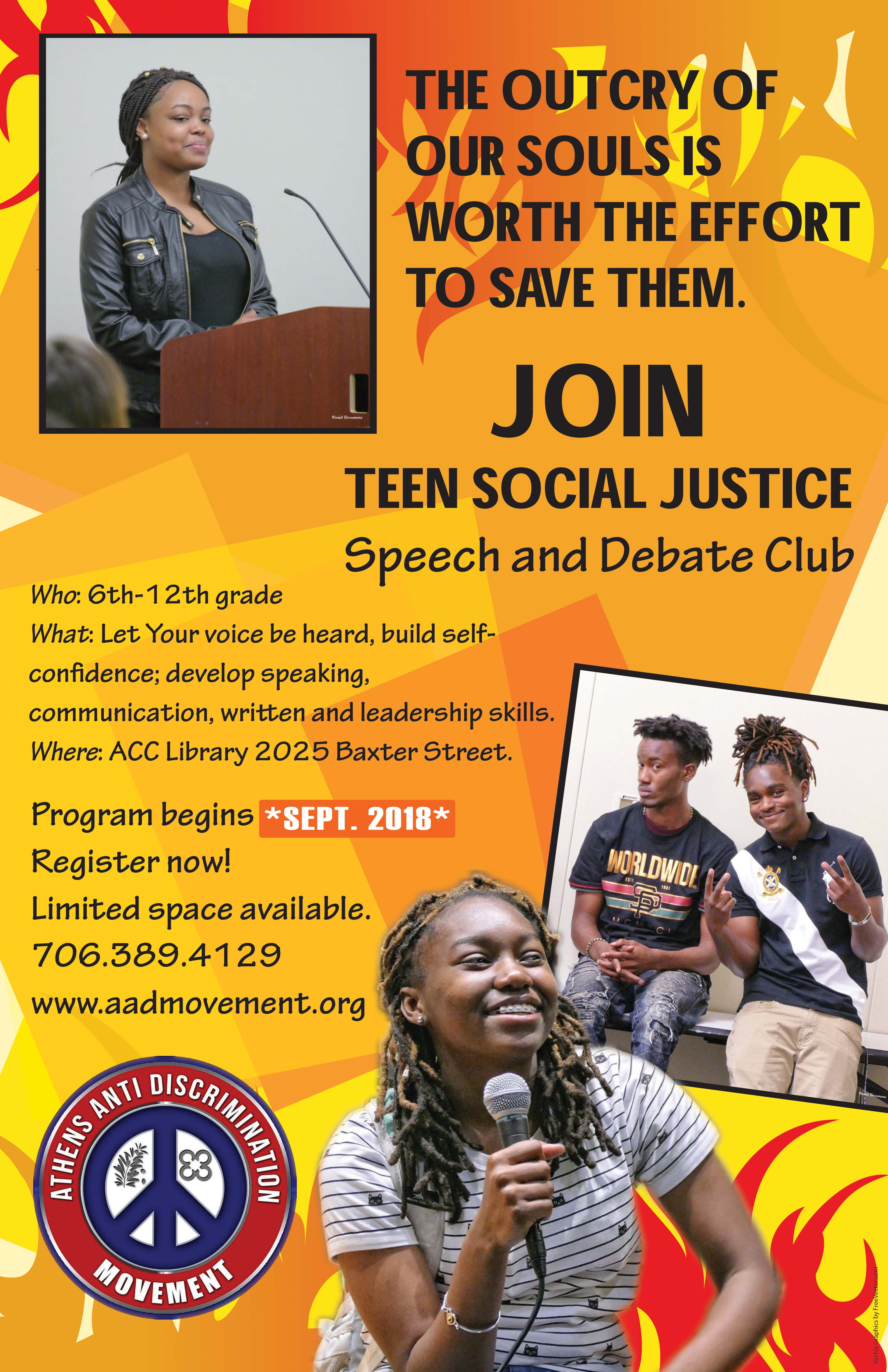 Teen Social Justice Speech & Debate Club