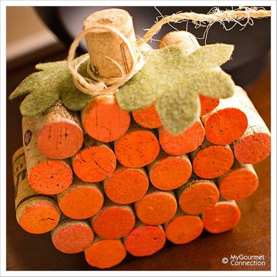Craft and Chat: Wine Cork Pumpkins