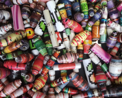 Saturday STEAM: Wrapping Paper Beads!