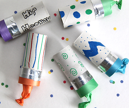 Kids' Class: New Year's Confetti Poppers and Thaumatropes!
