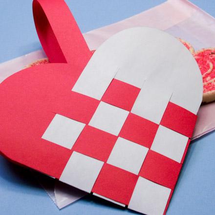 Saturday STEAM: Valentine Woven Heart Baskets