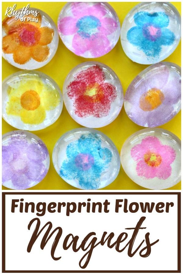 Fingerprint Flower Magnets