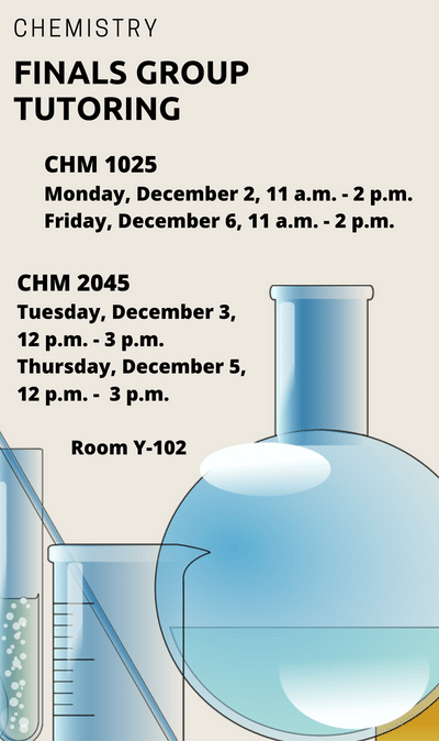CHM 1025 Finals Group Tutoring