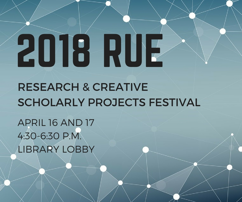 RUE Research & Creative Scholarly Projects Festival