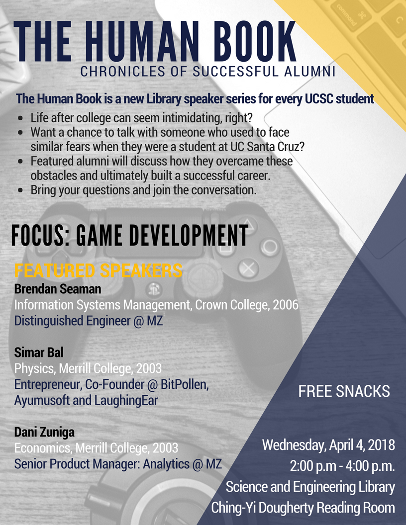 The Human Book - Chronicles of Successful Alumni, Focus: Game Development