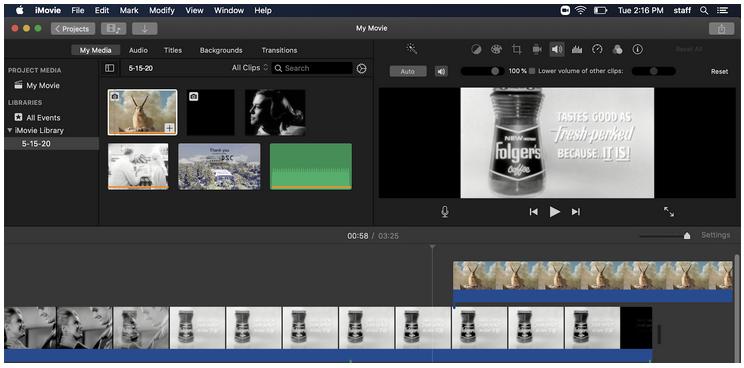 Digital Tool Review: iMovie (Zoom workshop)
