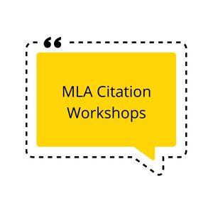 MLA Citation Workshop via Zoom