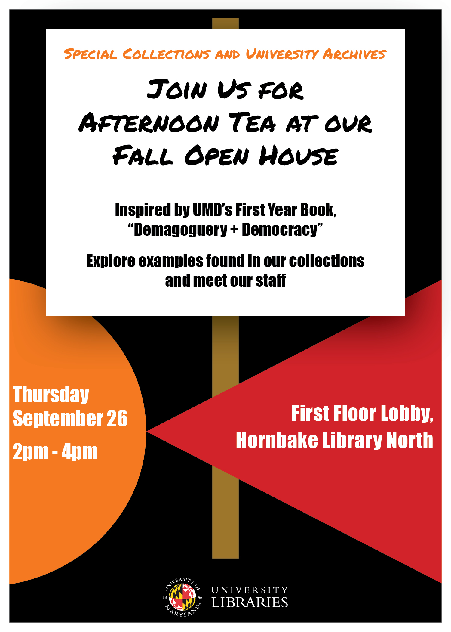 Afternoon Tea and Open House at Special Collections and University Archives