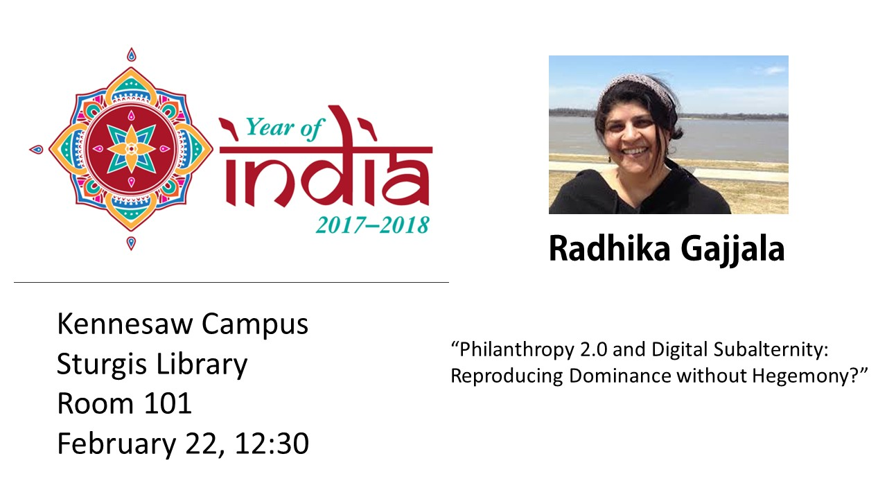 Year of India Lecture by Radhika Gajjala