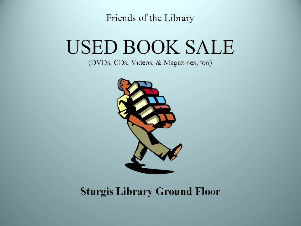Friends of the Library Used Book Sale at Sturgis Library