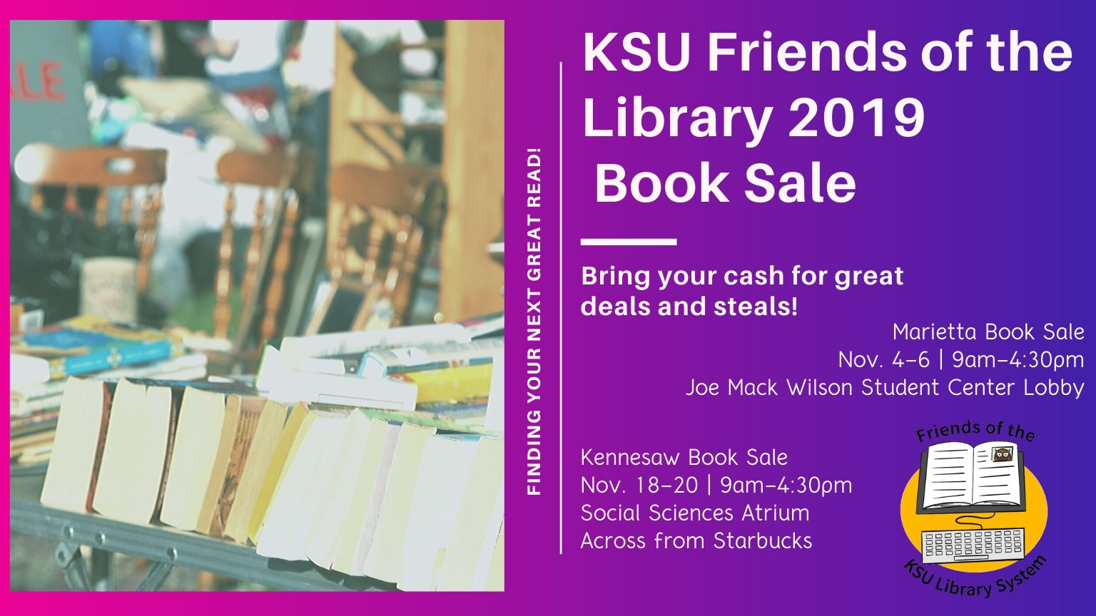 KSU Library Friends of the Library Book Sale Kennesaw