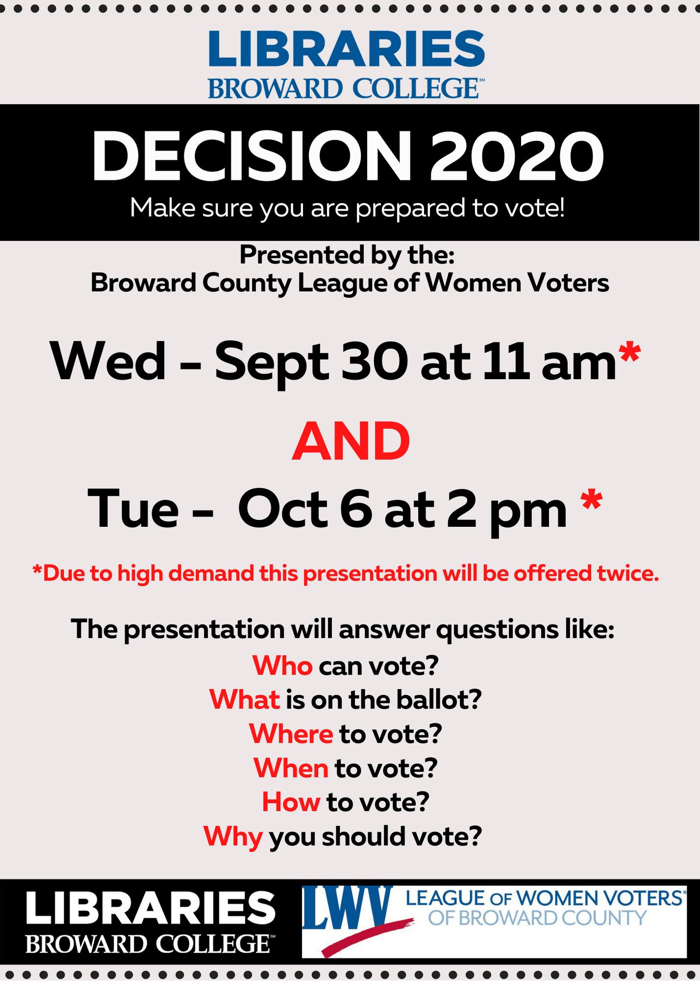 Decision 2020 (online event)