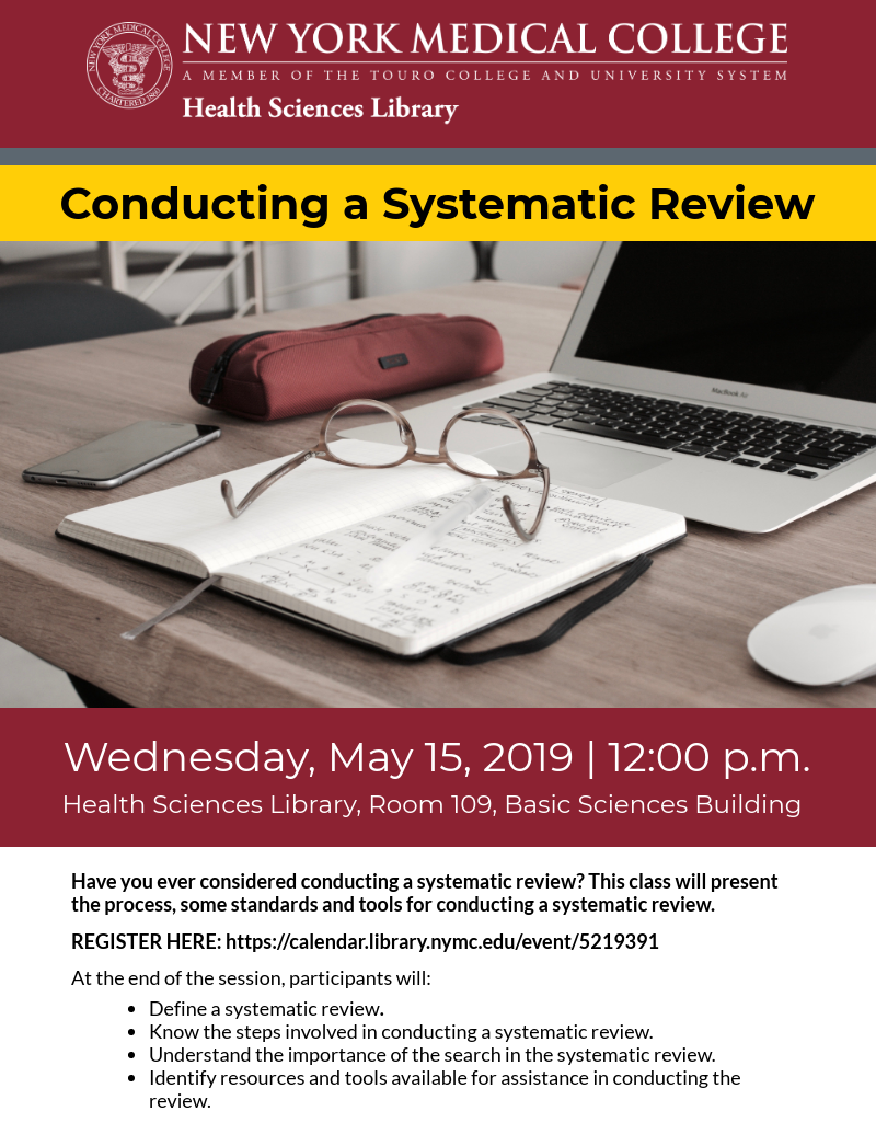 Conducting a Systematic Review