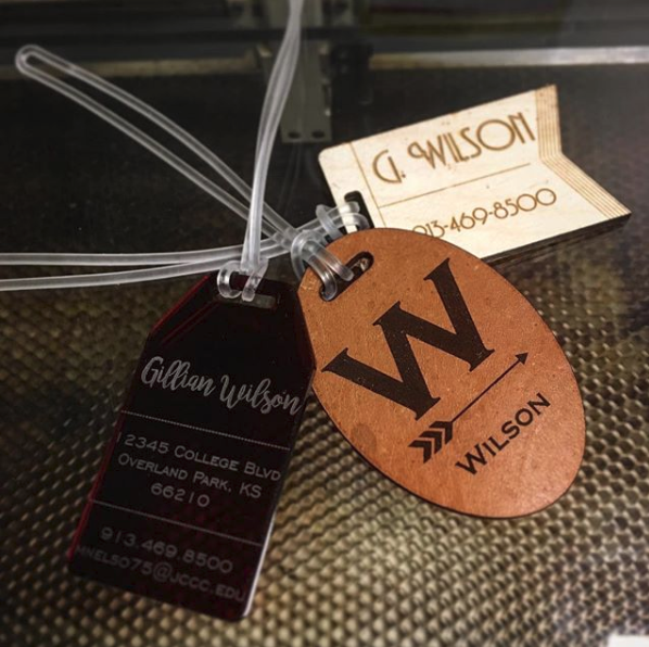 Laser Cutting: Luggage Tags