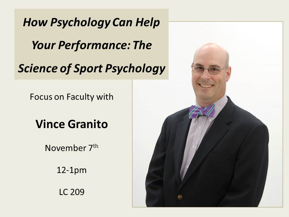 Focus on Faculty- Vince Granito