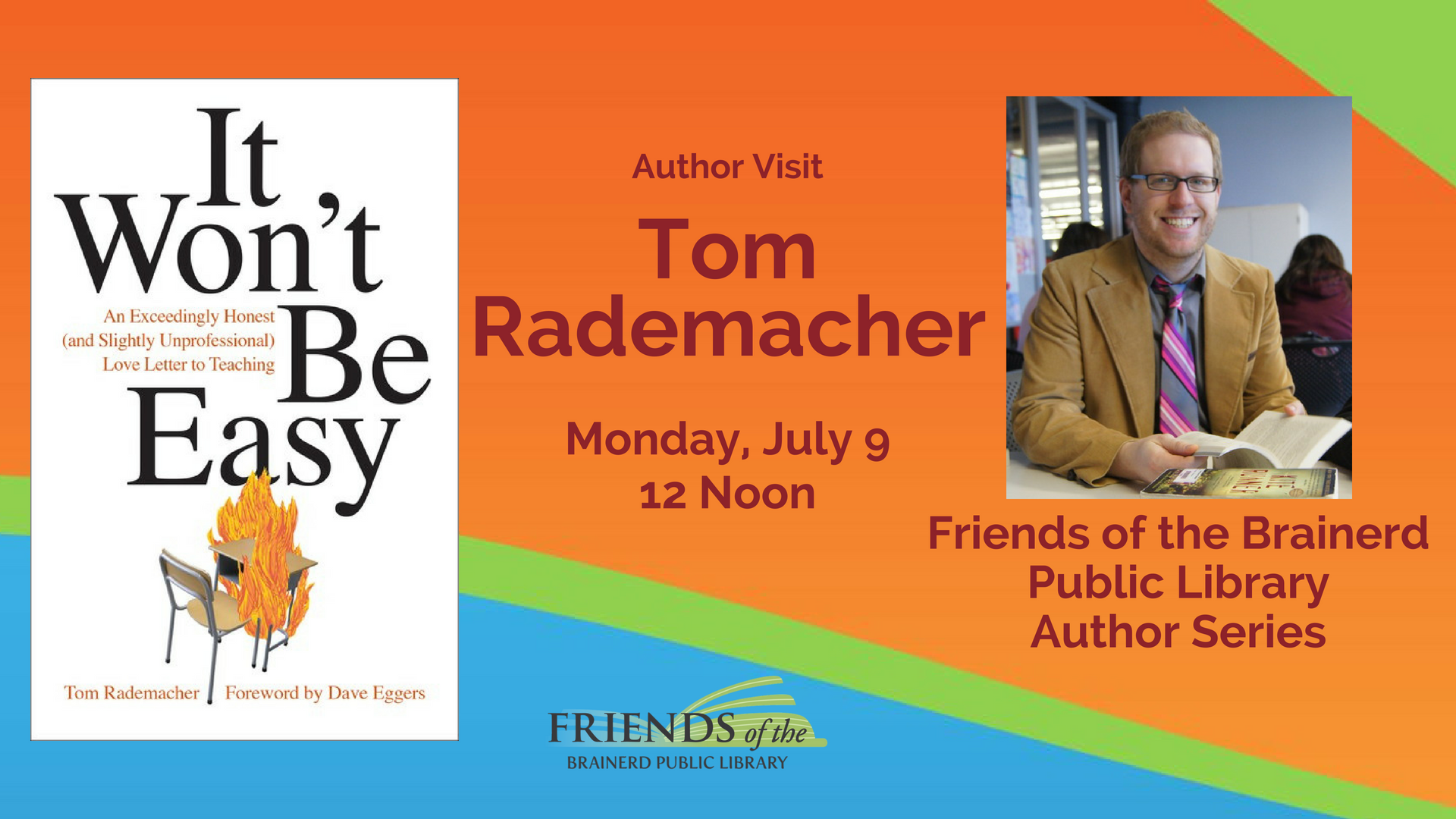 Brown Bag Author Visit: Tom Rademacher