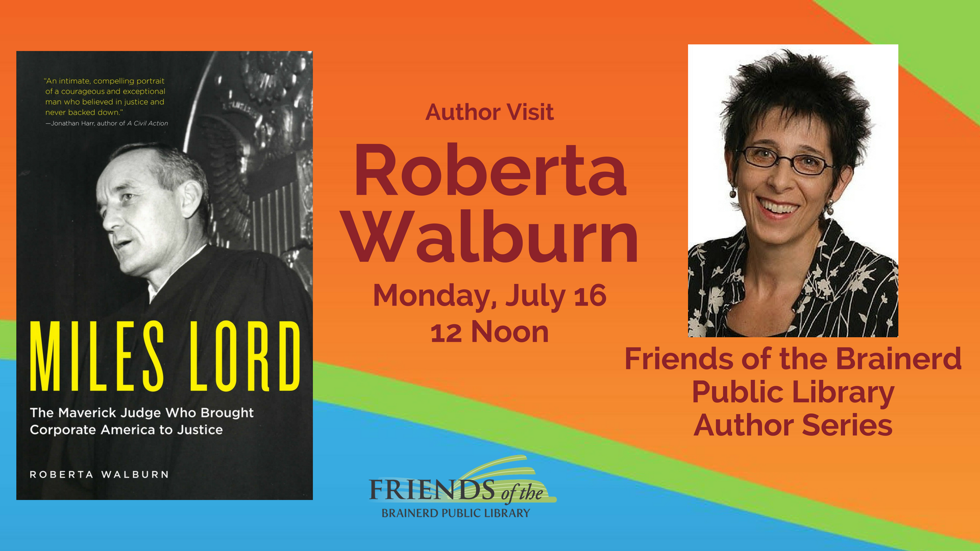 Brown Bag Author Visit: Roberta Walburn