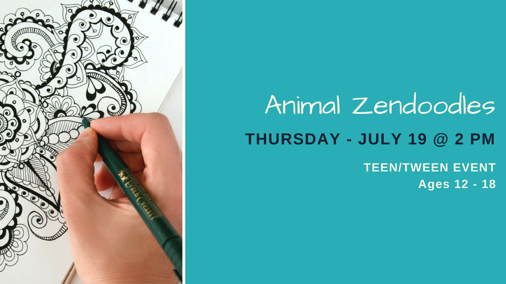Animal Zendoodles for Teens