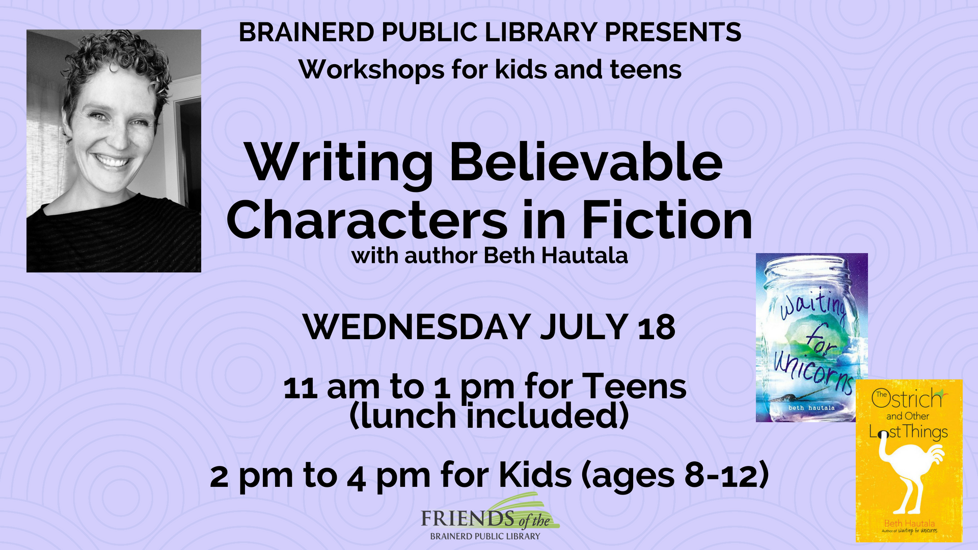 Teen Writing Workshop: Writing Believable Characters in Fiction