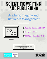 Scientific Writing and Publishing: Academic Integrity and Reference Management