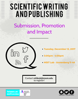 Scientific Writing and Publishing: Submission, Promotion and Impact