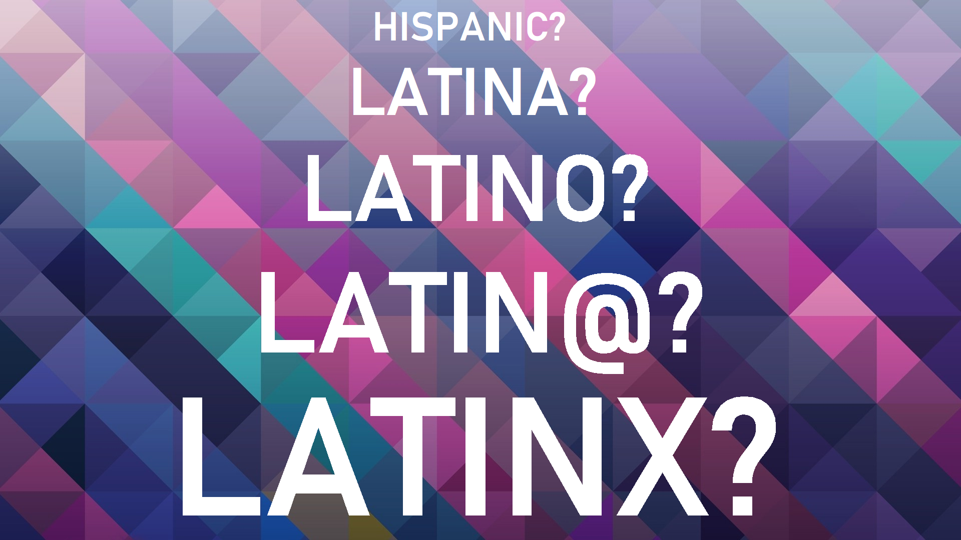 Brownbag Roundtable: To Be or Not To Be Latinx?