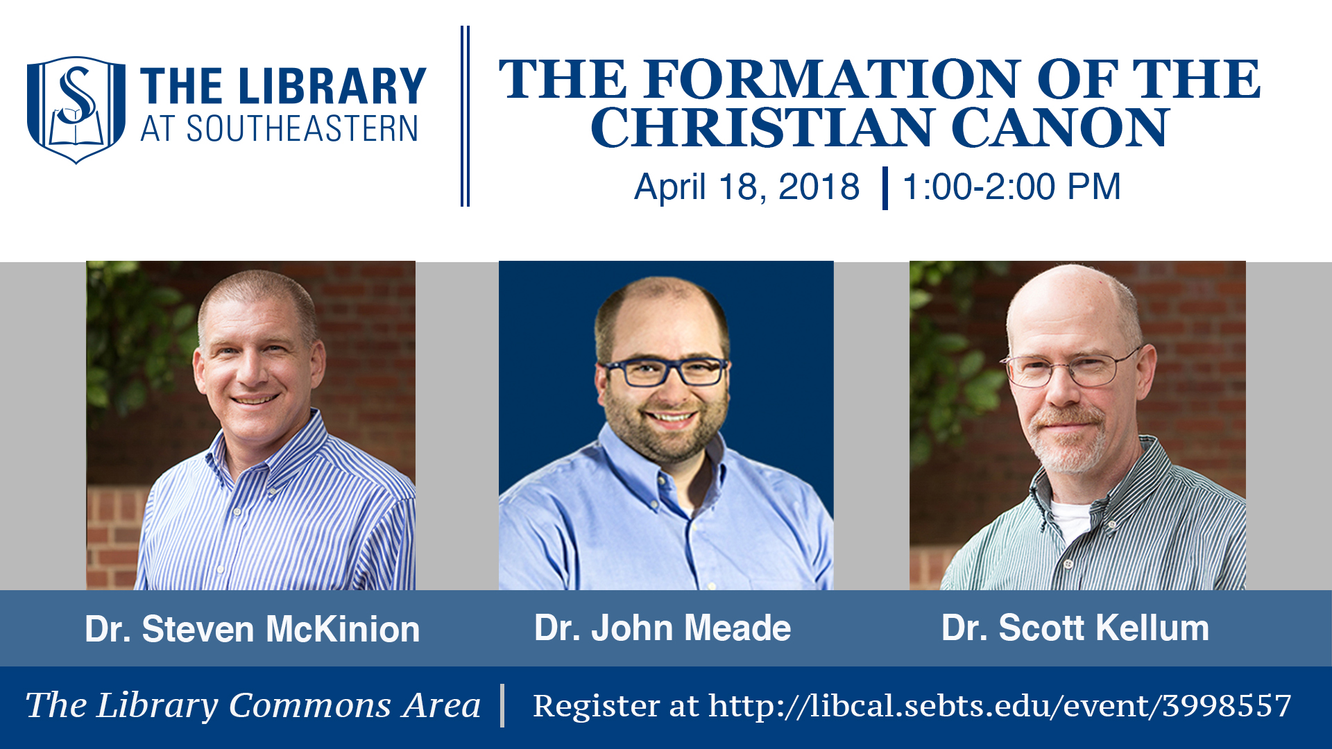 Library Talk: The Formation of the Christian Canon