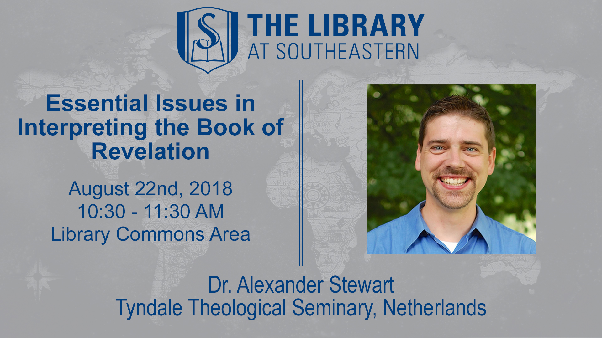Meet Our Visiting Scholar: Essential Issues in Interpreting Revelation