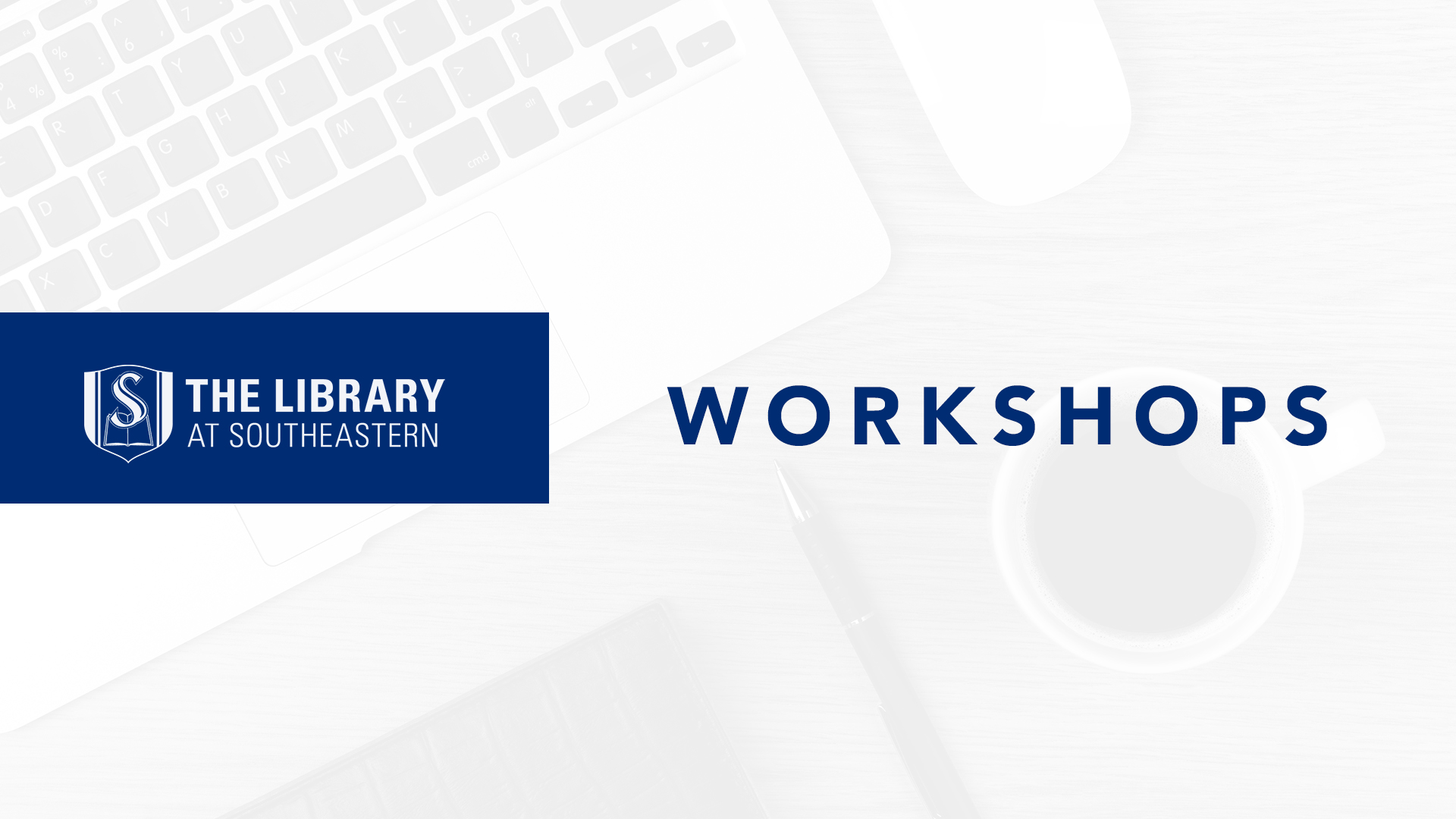 Library Workshop: Time Management