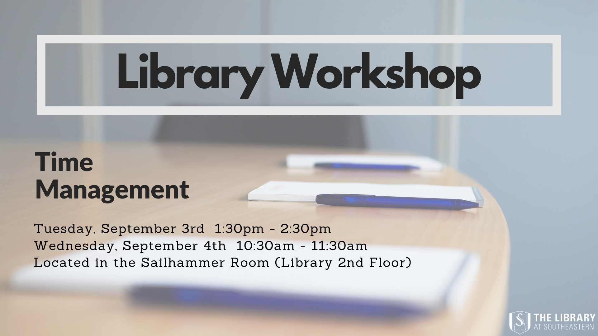 Library Workshop: Time Management
