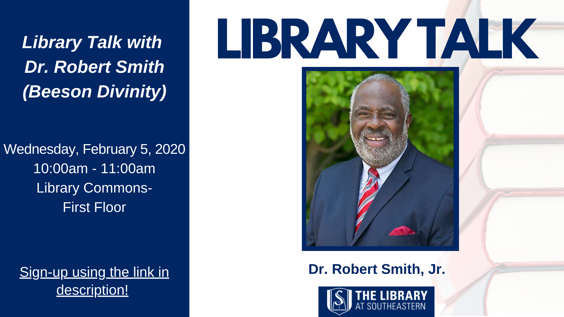 Library Talk with Dr. Robert Smith