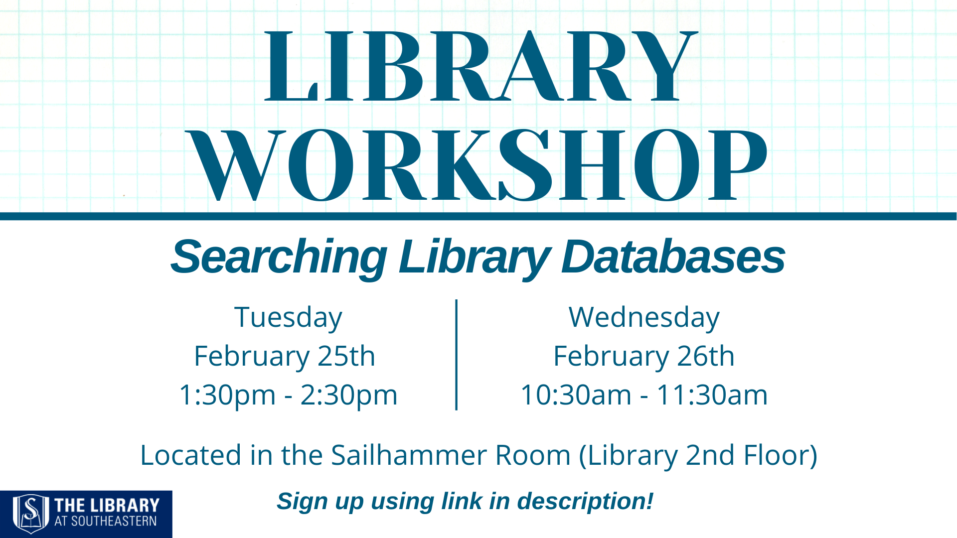 Library Workshop: How to Search Databases