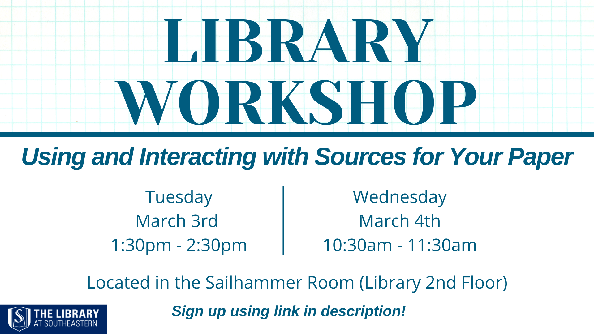 Library Workshop: Interacting with Resources in Your Paper