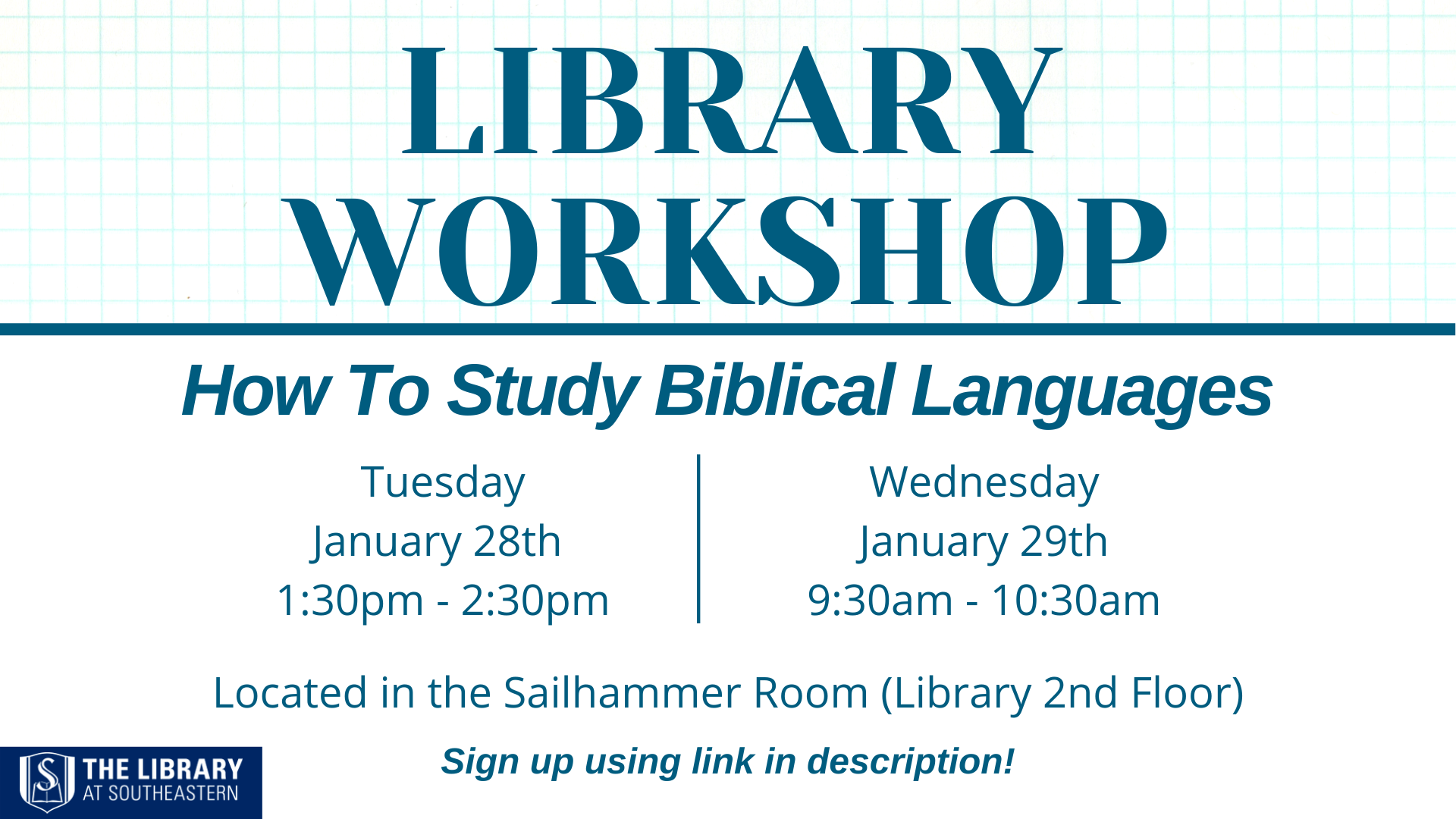 Library Workshop: Studying Biblical Languages