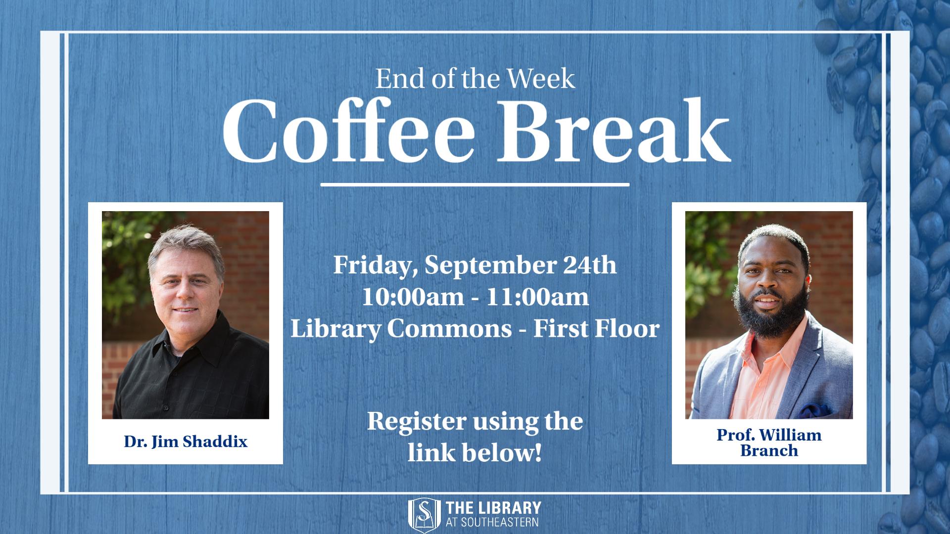 Coffee Break with Dr. Jim Shaddix