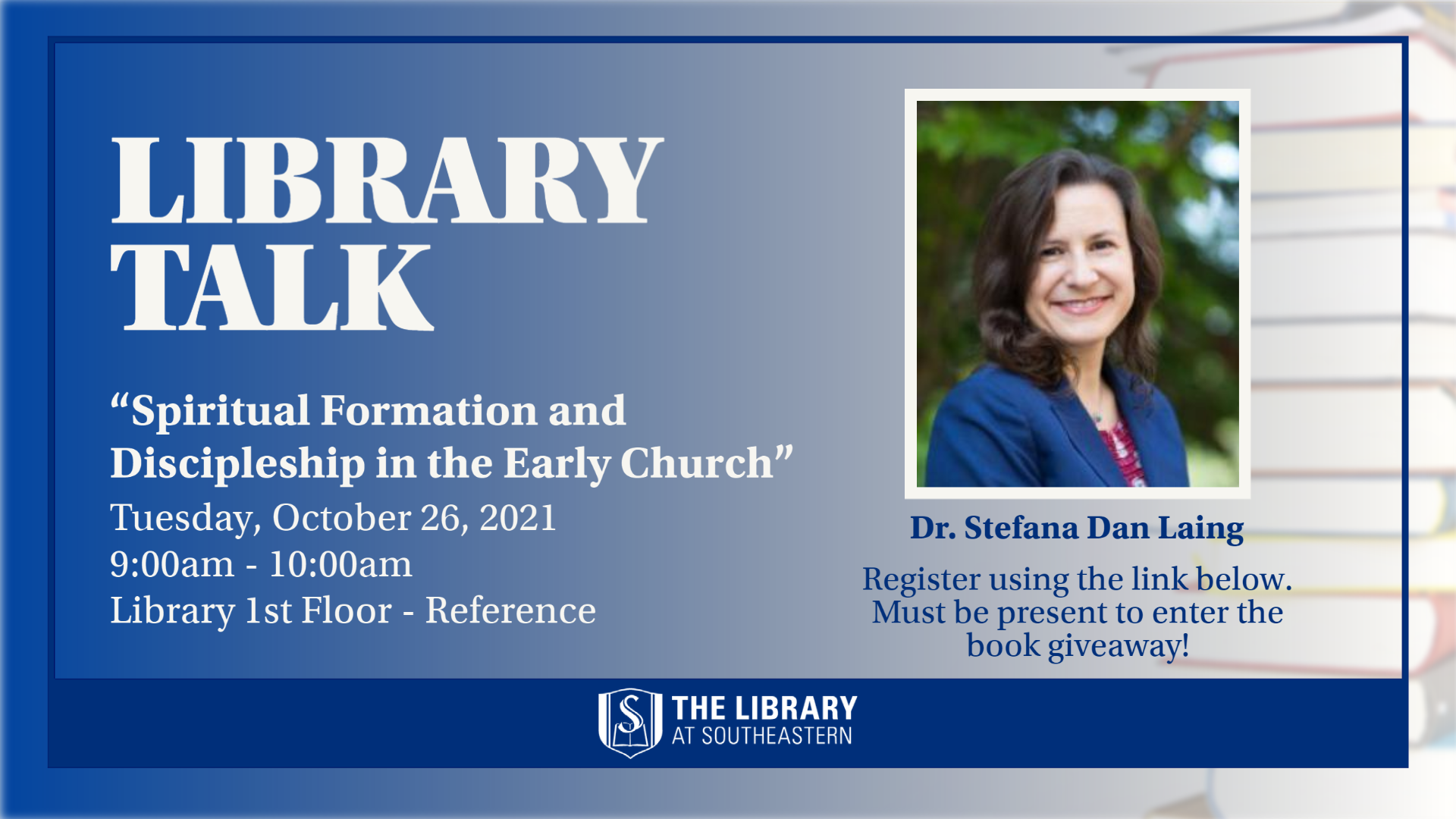 Library Talk: Spiritual Formation and Discipleship in the Early Church