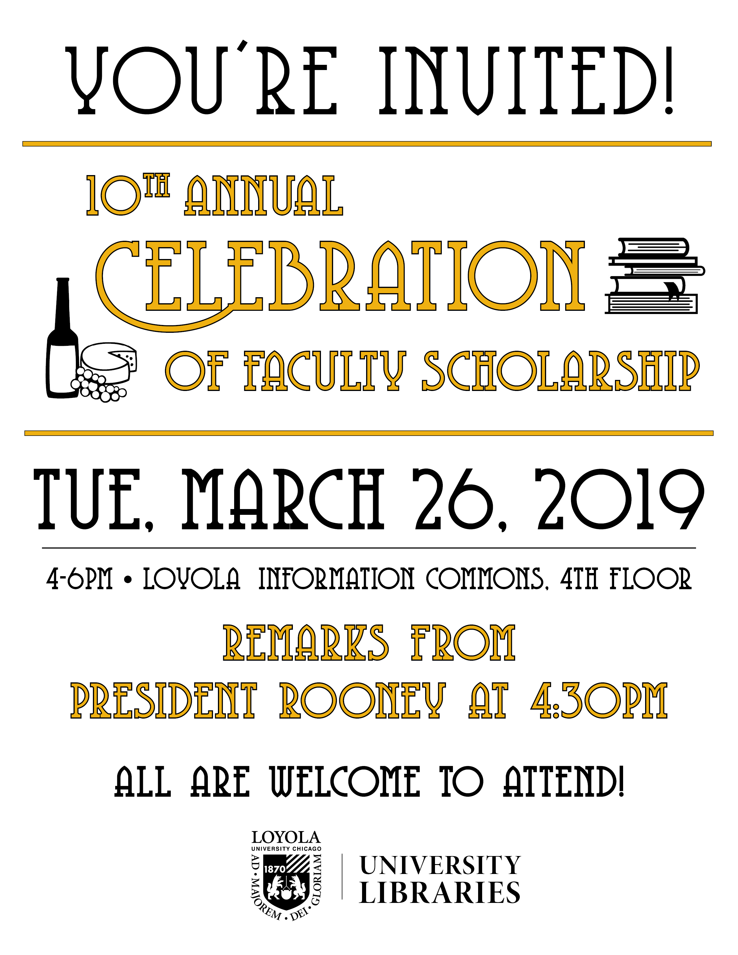 10th Annual Celebration of Faculty Scholarship